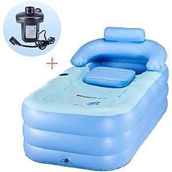G Ganen Happy Life Portable Plastic Bathtub Blue