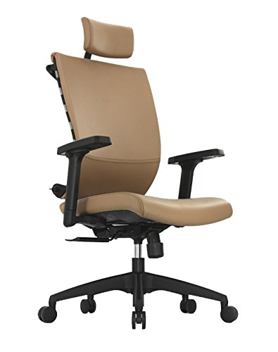 ApexDesk SK Series Ergonomic Leather High-Back Office Chair Adjustable Seat Height, Backrest and Armrest – Brown