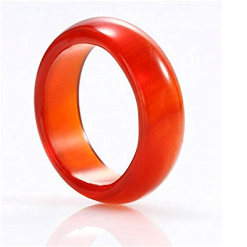 (JUYUDE Red agate ring 19-20mm)