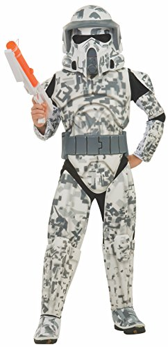 Rubies Star Wars Clone Wars Child's Deluxe Arf Trooper Costume and Mask, Large