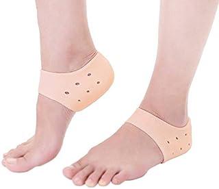 Wildlead 2 paires talon protecteur Silicone gel cheville soutien souple chaussettes pied manchon pour le soulagement de l'os éperon