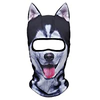 JIUSY 3D Animal Ears Balaclava Face Mask for Music Festivals, Raves, Ski, Halloween, Party Outdoor Activities