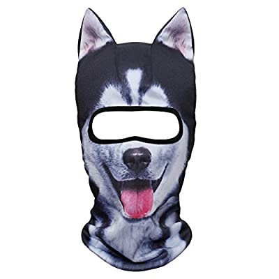JIUSY 3D Stand Ears Animal Balaclava Face Mask for Music Festivals, Raves, Ski, Halloween, Party Outdoor Activities