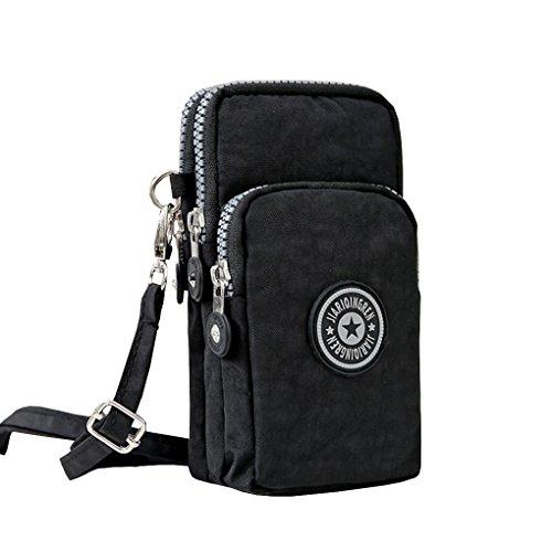 - TESOON Clutch Wristlet Handbag Purse, Waterproof Wrist Wallet, Can Hold iPhone 6s Plus or Samsung S7,Black
