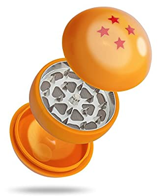 Dragon Ball Herb Grinder By ROCKET - 3 Piece Weed Grinder With Pollen Catcher 55MM (2.2 Inches) - Best For Weed & Tobacco & Spices - Gift Box by Rocket Herb Grinders