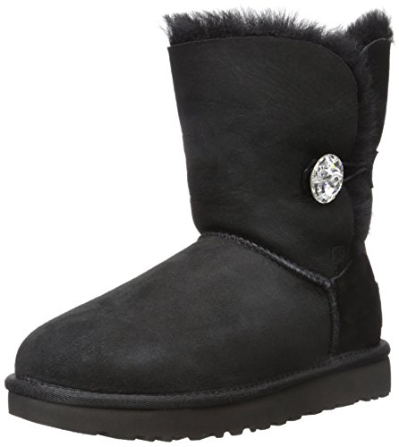 Ugg Women's Bailey Button Bling Winter Boot, Black, 5 B US