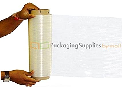 Amazon com: Hand Stretch Wrap Film 18 X 1500 X 90 Gauge 4 Rolls +