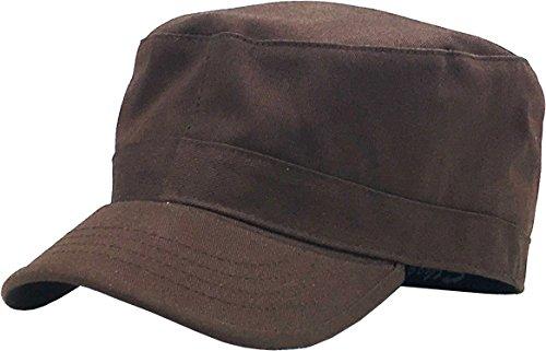 KBK-1464 DBR M Cadet Army Cap Basic Everyday Military Style Hat Brown (Hemp Womens Hat)