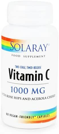 Solaray Vitamin C 1000 mg Two Stage, Time Release 60's