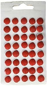 Charles Leonard Thumb Tacks - Red On Safety Cards - 40/Card, 83530