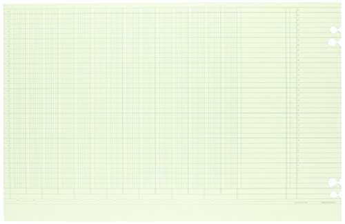 Sheets General Ledger (Wilson Jones Green Columnar Sheets, Single Page Format, 14 Columns, 36 Lines Per Page, 11