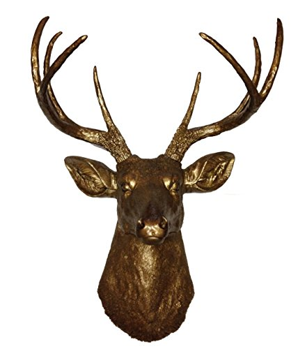 Bronze 8 Point Deer Head | Faux Taxidermy | Bronze 8 Point R