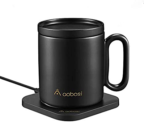 Smart Temperature Control Mug for Coffee Tea Cocoa Hot Drinks Smart Mug Wireless Charging Base Compatible for Charging Phone