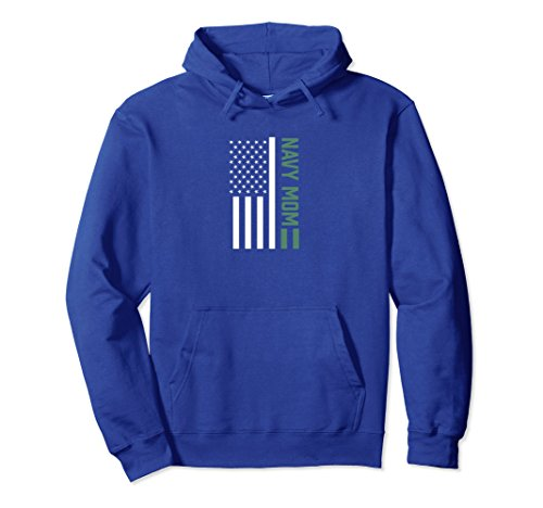 Unisex USA US Flag Proud Navy Mom Mother Military Freedom Hoodie Medium Royal Blue (Us Navy Mom Sweatshirt)