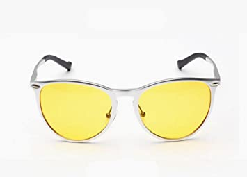 DZW gafas de sol de alto grado de aluminio y magnesio masculino y femenino polarizado , yellow: Amazon.es: Deportes y aire libre