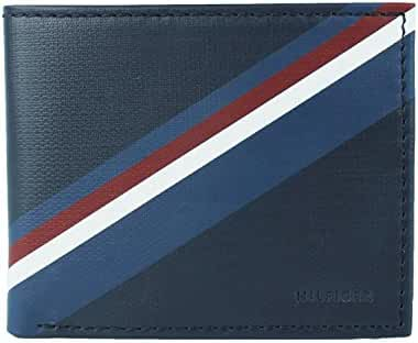New Tommy Hilfiger Men's Leather Double Billfold Passcase Wallet & Valet