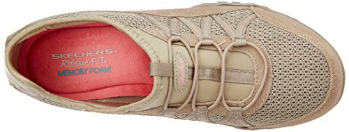 Easy Skechers Women's Moneybags Breathe Sport Relaxation Taupe Sneaker 6xROxS