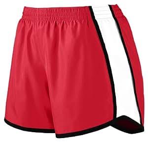 Augusta Sportswear Women's Moisture Elastic Short, Red/White/Black, Large