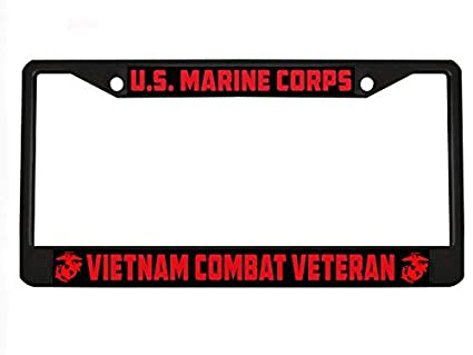 Vietnam Veteran Military License Plate Frame Car Tag Holder
