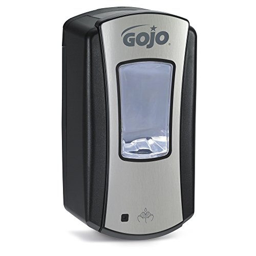 (GOJO LTX-12 Foam Soap Touch-Free Dispenser, Chrome/Black Finish, Dispenser for 1200 mL Foam Soap GOJO LTX-12 Refill - 1919-01 )