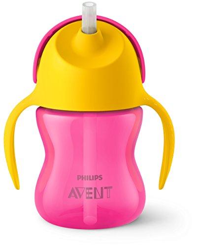SCF790//22 2pk 7oz Philips Avent My Bendy Straw Cup Pink//Purple