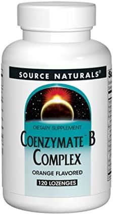 Source Naturals Coenzymate B Complex - Orange Flavor That Melts In Mouth - B Vitamins - 120  Lozenges