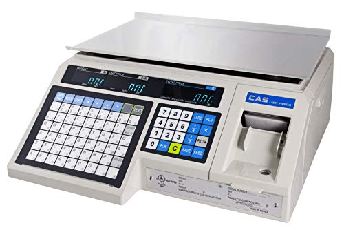 (CAS LP1000N Label Printing Scale, 30lbs Capacity, 0.01lbs Readability )