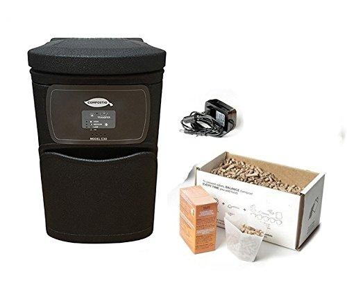 Compostio C30 Automatic Composter, Black