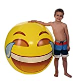 "Emoji Universe: Gigantic 56"" Tears of Joy Beach Ball; ALMOST 5 FEET!"