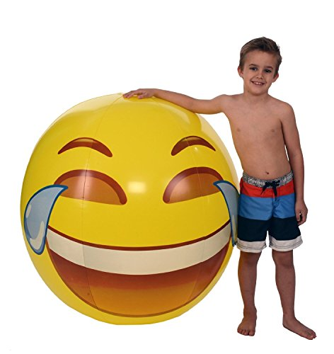 Emoji Universe  Gigantic 56  Tears Of Joy Beach Ball  Almost 5 Feet