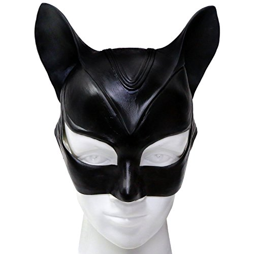 [Women's Newest Edition Catwoman Mask TDKR Masks for Halloween Party Black] (Tdkr Catwoman Halloween Costume)