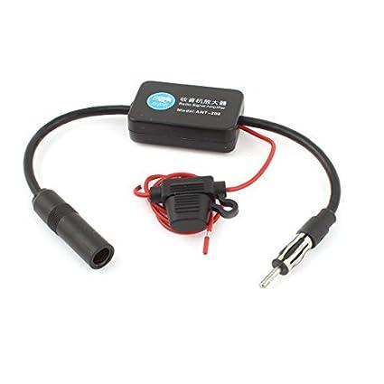 eDealMax DC12V Radio FM Antena Amplificador de señal de Refuerzo Para RV Coche Barco Marina