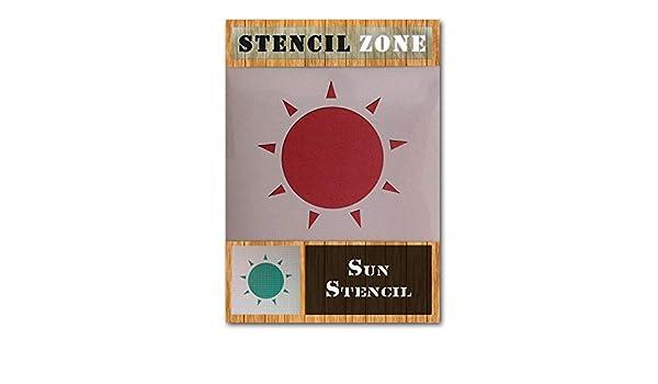 Sun Shine Hot Sky Sunny Shape Mylar Airbrush Painting Wall Art Crafts Stencil 4-XL