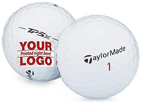 1 Dozen Taylor Made TP5 X Customized Logo Golf Balls + Free Tees
