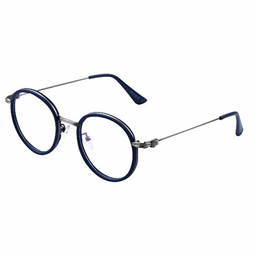 Bi Tao Blue Vintage Round Bifocal Reading Glasses 2.50 Men Women Fashion Readers Eyeglasses 23 Strengths Available in 3 - Glasses Bifocal Round