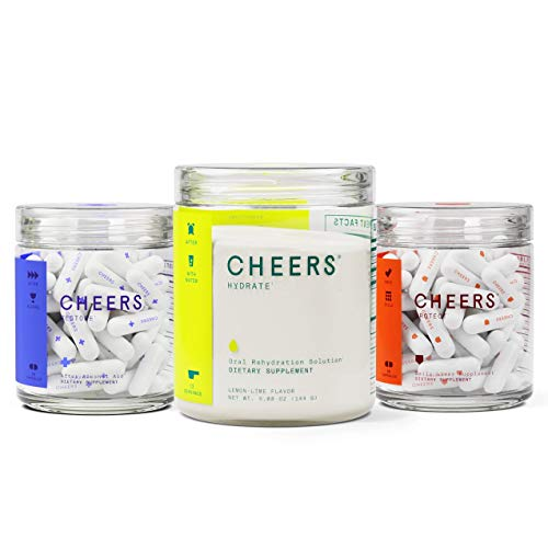 Cheers Super Combo - Restore After Alcohol Aid Hangover Pills, Hydrate Oral Rehydration Solution, and Protect Daily Liver Supplement