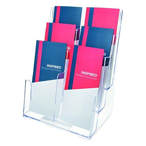 Multi Docuholder Compartment (Deflecto 77401 Three-tier multi-pocket multi-compartment docuholder, 9wx7-1/2dx13-3/4h, clear)