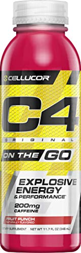 - Cellucor C4 On The Go Zero Sugar Pre Workout Drink, Energy Drink + Beta Alanine, Fruit Punch, 11.7 Ounce Bottles (Pack of 12)