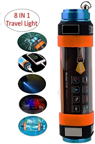 CyberDyer LED Camping Lamp USB Rechargeable Camping Lantern Emergency SOS Travel Flashlight Waterproof with Magnetic Power Bank Window Breaking Device Mosquito Dispeller Medium – 9.84 L, 5200mAH