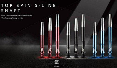 最新スピン型ダーツシャフト TOP-SPIN Shafts (BLACK  IN BET)