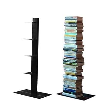 radius design estantera para libros columna tamao grande color negro
