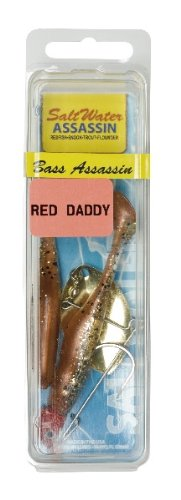 Bass Assassin Saltwater Red Daddy Spinner-2 Per Bag (New Penny, 4-Inch)
