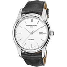 Frederique Constant Classics Index Automatic Watch - 303S6B6 Silver Dial Black Strap Watch