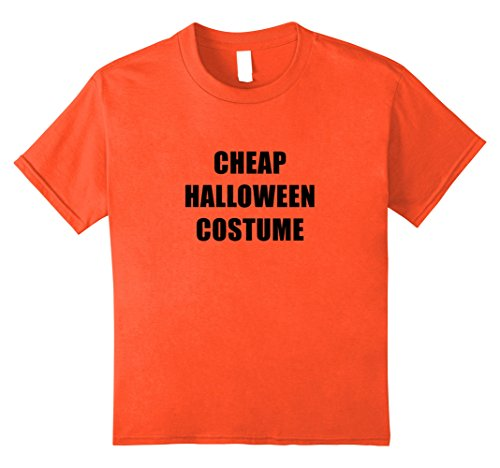 Last Second Halloween Costumes For Girls (Kids Orange Cheap Halloween Costume Funny Tee Shirt Outfit 12 Orange)