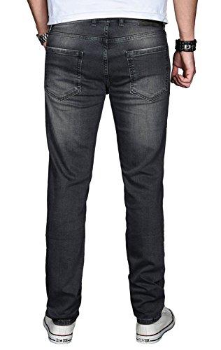 Alessandro Uomo Scuro Grigio Attillata Basic Salvarini Jeans 0PxwSpqa0r