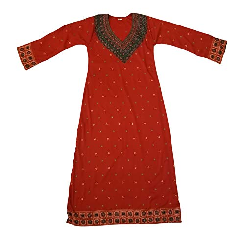 (BombayFashions K937S Long Printed Kaftan Abaya Dress Long Sleeve Blouse)
