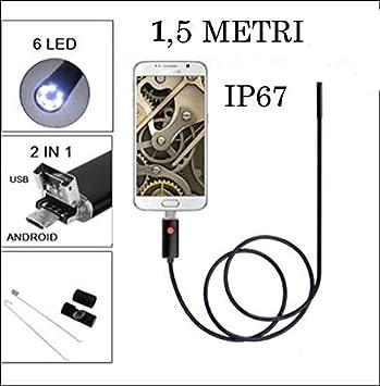 Schlangenkamera mit 8 einstellbaren LEDs f/ür Android-Handys und Tablets Takemore7 USB-Endoskop wasserdichte Kamera Typ-C Endoskop Inspektionskamera IP67