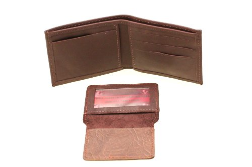 Bifold Wallet Removable Cover Leather