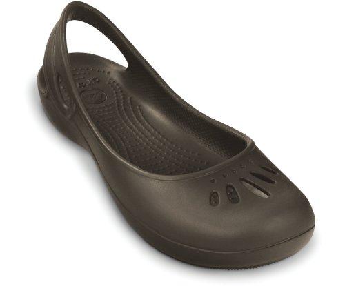 Crocs Women Ballet Flats Thea Women Slingback Ballerina Shoes 3 UK, Espresso