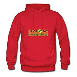 Women Earthdaycontest Printed Hoodies Red Customized Shirts With X-large